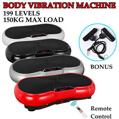 Vibration Fitness Platform Plate Machine Body Shaper Exercise Massage 4 Colors