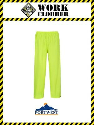 Portwest Classic Yellow Rain Trousers S441 NEW WITH TAGS!