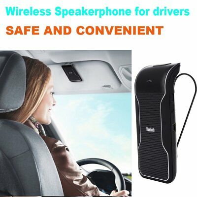 US Hands-free Phone Call Multipoint Bluetooth Speakerphone Speaker Car Sun Visor