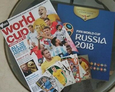Official SBS World Cup Russia 2018 Guide Magazine + Sticker Album + TradingCards