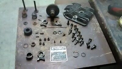 Antique REO Small Engine 552A. Hardware, Head, Valves, Cam, Tag, and More. (2b3)