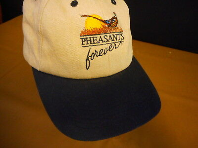superior quality 3eef3 53b03 Pheasants Forever Hunting Adult Hat Baseball Cap Hat used strapback