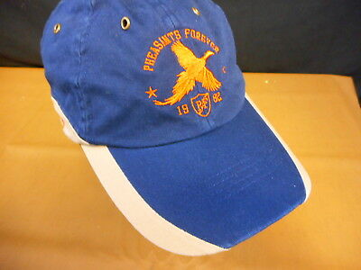 info for 71d4a 69525 Pheasants Forever Pheasant Hunting Adult Hat Baseball Cap Hat used strapback