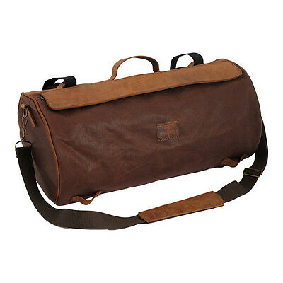 longride Luggage Roll Roll Bag waxcotton,Brown, For Harley Davidson