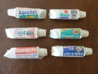 Mouthful of Teeth Candy Tubes - Lot of 6 - toothpaste - 1985 Fun Foods - SEALED