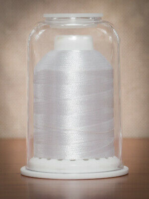 Hemingworth Machine Embroidery Polyester Thread Pure White 1000m