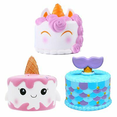Jumbo Slow Rising Squishies Scented Mermaid Horse Cake Squishy Squeeze Toy New