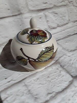 Staffordshire Tableware Pottery Autumn Fayre Sugar Bowl with Lid