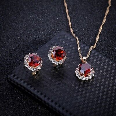 femmes Dame Cristal Mariage Collier Strass Earrings Jewelry Lot cadeau à la mode
