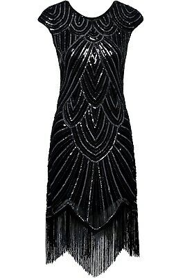1920s Flapper Dress Great Gatsby Costume Sequins Fancy Fringe Dresses Plus Size