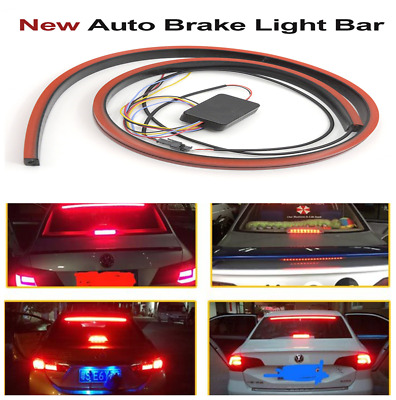 12V Car SUV Flexible Red LED Brake Strip Night Rider Scanning Flowing Light Bar