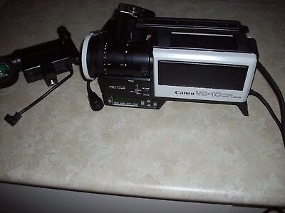 vintage colour video camera vc-10 canon 80s era has not been tested