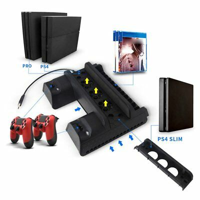 Vertical Cooling Fan Stand Dual Controller Charger For PS4/PS4 Slim/PS4 Pro OK