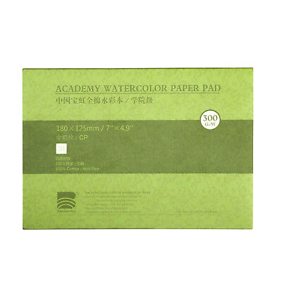"""7x4.9"""" Cotton Watercolor Paper Textured Surface Cold Press 140lb/300gsm New"""