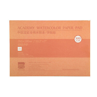 "MEEDEN 10.2x7"" Cotton Watercolor Paper Smooth Surface Hot Press 140lb/300gsm New"