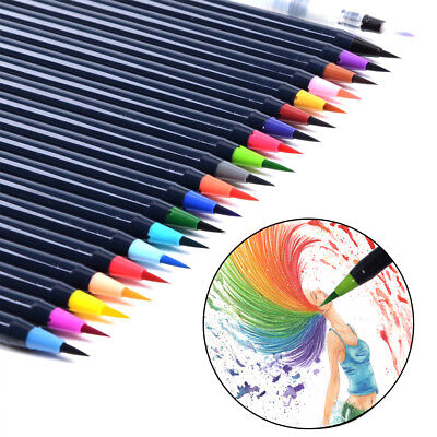 Art Oil 20-Colors Water Brush Pen Art Paint Brush Watercolour Brush Set AU