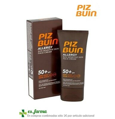 Piz Buin Allergy Spf50+ Crema Facial Piel Sensible 50Ml Protector Solar Sun High