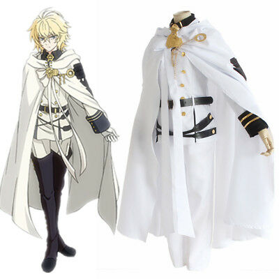 Seraph of The End Vampire Mikaela Hyakuya Cosplay Costume Adult Uniform Full Set
