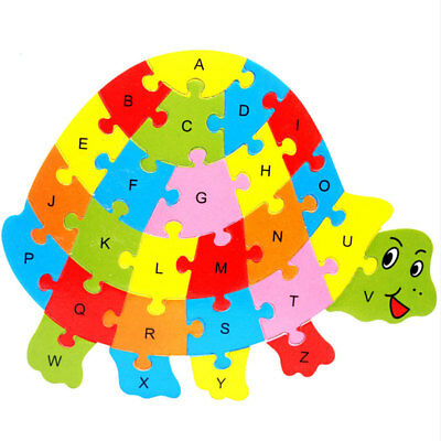 Turtle Shape Letter Early Learning Alphabet Puzzle Game Kids Toy Preschool