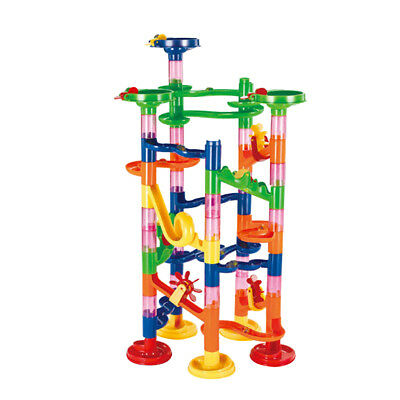 74pcs DIY Marble Run Race Construction Set Building Blocks Kit Kids Toy Gift