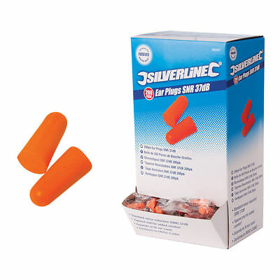 Ear Plugs SNR 37dB   Pairs Noise Protection SOFT FOAM EAR PLUGS Silverline