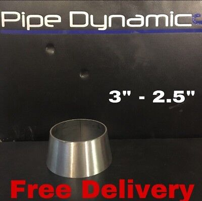 "3"" inch to 2.5"" inch 316L Stainless Steel Exhaust Reducer Cone"