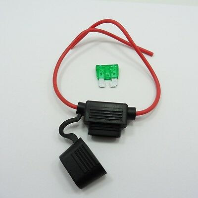 12V Standard Blade Waterproof Inline Fuse Holder with Fuse A by Choice Car Bike