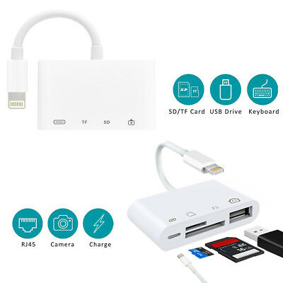 Lightning to SD/TF Card Reader USB 2.0 Camera Converter For iPhone X 6 7 8 Plus