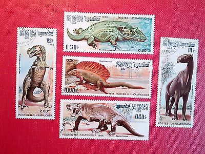 Kampuchea - 1986 Animals Set 5  stamps Fine Used
