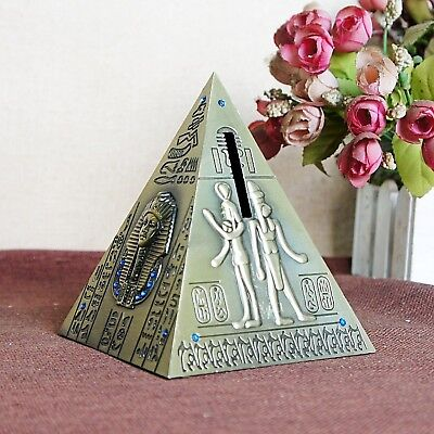 1Pcs Bronze Egyptian Pyramid Metal Figurine Decoration Creative Crafts For Home