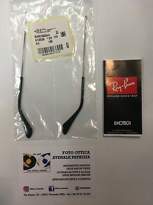 ASTE DI RICAMBIO RAY BAN RB 3025 3029 3138 l.135 replacement temples silver