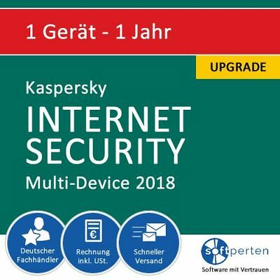 Kaspersky Internet Security 2018 Upgrade - Multi-Device, 1 Gerät - 1 Jahr, ESD