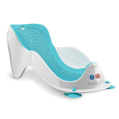 Angelcare Soft-Touch Mini Baby Bath Support Aqua | Anti Slip | Mould Resistant