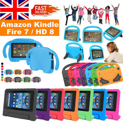 For Amazon 2017 Kindle Fire 7 HD 8 Tablet Shockproof EVA Foam Handle Case Cover