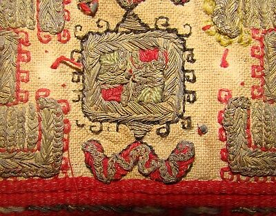 Antique Asian Chinese China ? Middle East ? Embroidery Handmade Table Cloth