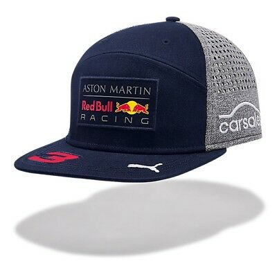 2018 OFFICIAL F1 Aston Martin RED BULL Racing RICCIARDO Flat Brim Cap Hat MENS