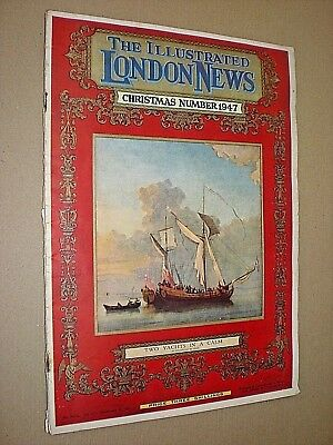 ILLUSTRATED LONDON NEWS. ILN. 1947 CHRISTMAS NUMBER. SINGLE ISSUE. ADVERTS etc.