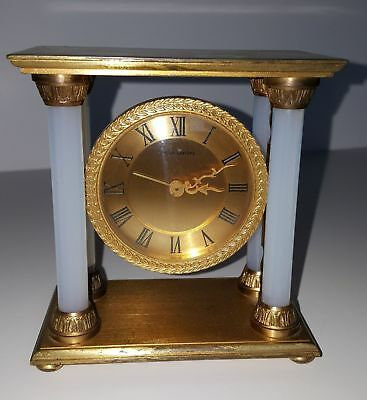 Alarm clock HOUR LAVIGNE Bronze golden Glass Opalescent paris gilt pendulum
