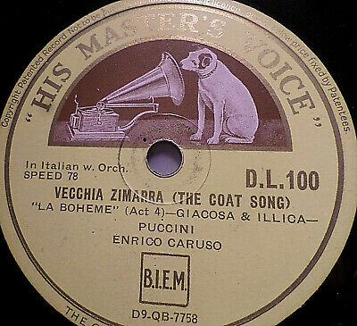 """ENRICO CARUSO """"Vecchia Zimarra The Coat Song / Why Caruso Recorded The Coat Song"""