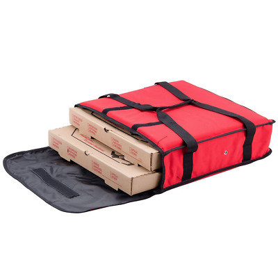 """Nylon Insulated Pizza Delivery Bag Size 18"""" x 18"""" x 5"""" Sturdy Exterior Handles"""
