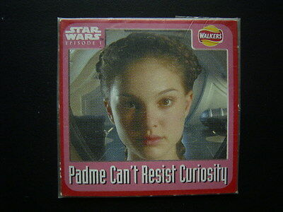 Walkers 1999 Star Wars Episode One 1 Scratch Card Sealed  Padme (E11)