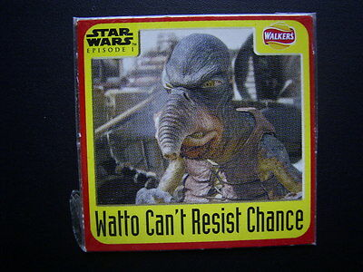 Walkers 1999 Star Wars Episode One 1 Scratch Card Sealed  Watto (E11)