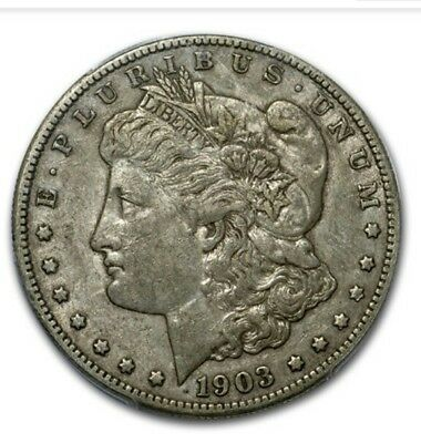 1903-S morgan silver dollar Extra Fine condition, 45 I truly blieve it will be