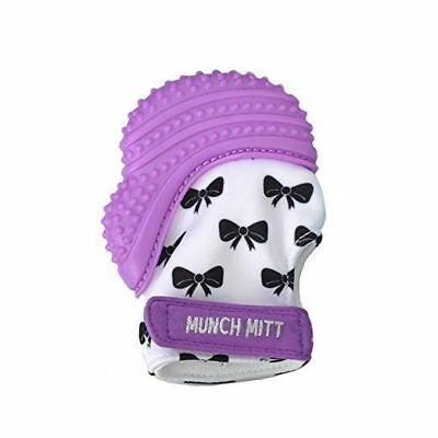 Munch Mitt Teething Mitten - New Color / Pattern for 2018! Purple Bows
