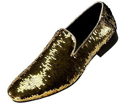 4dc749306e46 Amali Smoking Slipper Reversible Metallic Sequins Loafer Dress Shoe  Style  Flipp