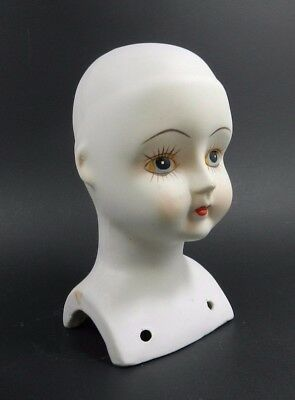 White Bisque Porcelain Doll Head