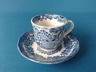 Royal Worcester Avon Scenes Palissy Cup and Saucer
