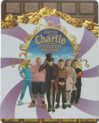 Charlie and the Chocolate Factory - Limited Edition Steelbook [Blu-ray] New!!