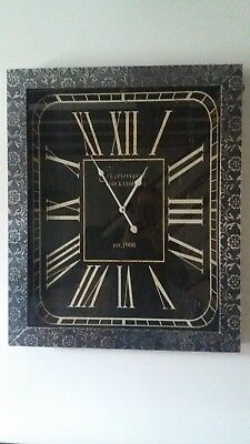 Wall Clock - With Embossed Antique Effect - New