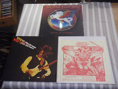 """STEVE MILLER BAND: Fly Like An Eagle etc., NICE LOT WITH 3 LP`S/ 12"""", MINT WAX"""